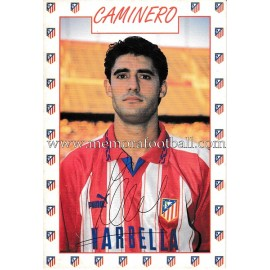 """CAMINERO"" Atlético de Madrid 1996 signed card"