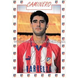 "Tarjeta postal de ""CAMINERO"" Atlético de Madrid 1996"