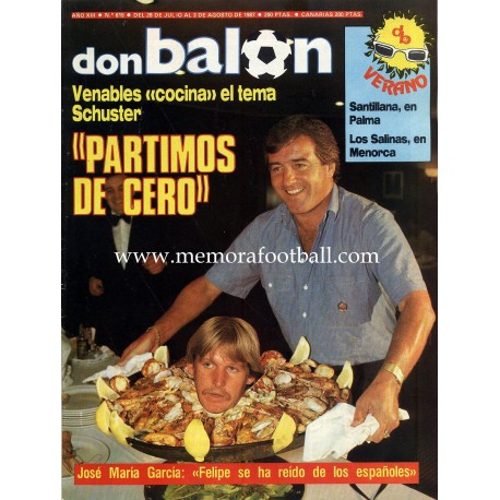 DON BALON (Spanish football magazine) nº 615 12-18 August 1987