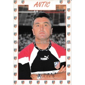 """ANTIC"" Atlético de Madrid 1996 signed card"