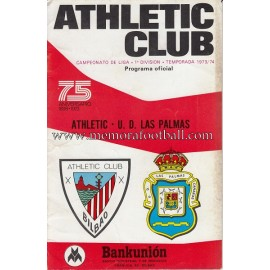 Athletic Club vs UD Las Palmas 1973-1974 official programme