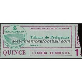 Real Madrid vs FC Barcelona 29-03-1981 Spanish League ticket