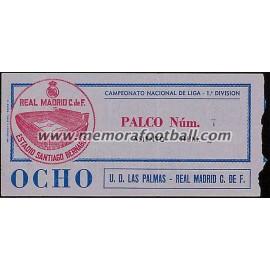 Real Madrid vs UD Las Palmas 13-01-1980 LFP ticket