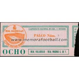Real Madrid vs Real Valladolid 28-12-1980 LFP ticket