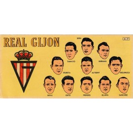 Real Gijón 1953-1954 card