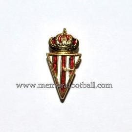 Curiosa insignia de solapa del Real Gijón 1960s