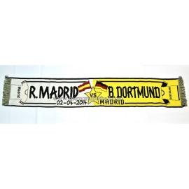 Bufanda Real Madrid vs Borussia Dortmund 02-04-2014 UEFA Champions League