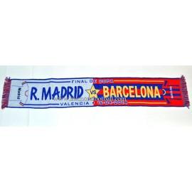 Bufanda Real Madrid vs FC Barcelona 16-04-2014 Final Copa del Rey