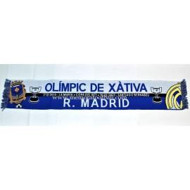 Bufanda Real Madrid vs Olímpic de Xátiva 2013 Copa del Rey