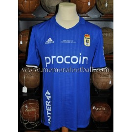 """TOCHÉ"" Real Oviedo vs Nastic 04-12-2016 match worn shirt"