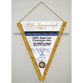Internazionale Milano vs Atlético de Madrid 27-08-2010 UEFA Super Cup Final pennant