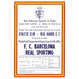 Cartel FC Barcelona vs Sporting de Gijón Final Copa del Rey 18/06/81