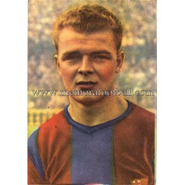 """""""KUBALA"""" Barcelona C.F. 1950-1952 cromo"""