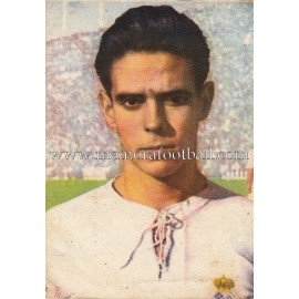 """ZÁRRAGA"" Real Madrid 1950-1952 card"