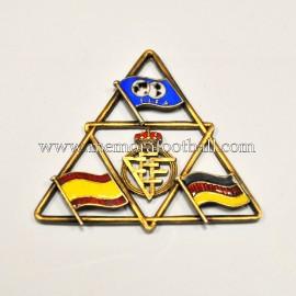 Insignia esmaltada España vs Alemania FIFA Campeonato Mundial 1966