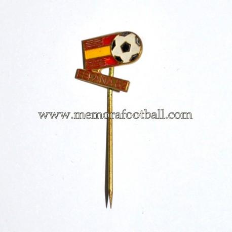 Insignia de aguja del Campeonato Mundial de Futbol España 1982
