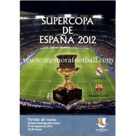 Real Madrid vs FC Barcelona Spanish Super Cup 2012 Match Final Official Programme