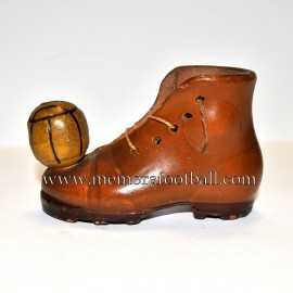 Terracotta boot with ball. Spain 1920s