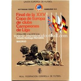 Nottinghan Forest vs Hamburg S.V. UEFA European Cup Final 1980 Official Programme