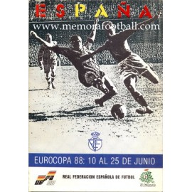 Programa Oficial de la Eurocopa Alemania 1988. RFEF