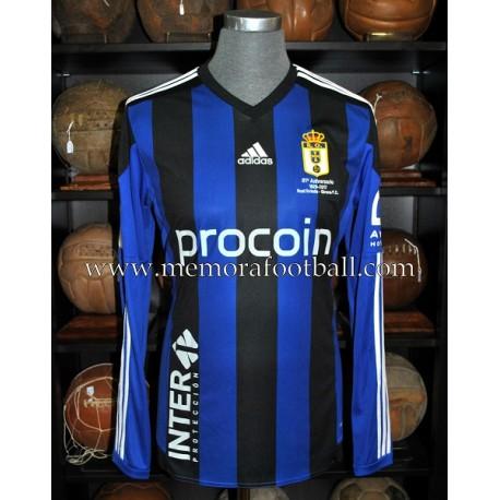 """""""CARLOS DE PENA"""" Real Oviedo vs Girona 25-03-2017 match worn shirt"""