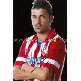 """DAVID VILLA"" Atlético de Madrid signed photograph"