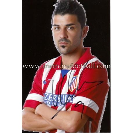"Foto firmada de ""DAVID VILLA"" Atlético de Madrid"