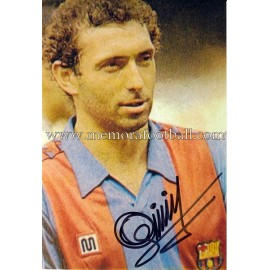 """QUINI"" FC Barcelona signed colour photograph"