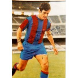 """""""ANTONI TORRES"""" FC Barcelona fotografía firmada y dedicada"""