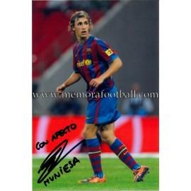 """MUNIESA"" FC Barcelona foto firmada"