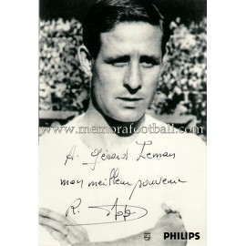 """RAYMOND KOPA"" Real Madrid signed and dedicated photo"