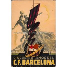 """Libro """"Cincuenta años del C.F Barcelona (1949)"""""""