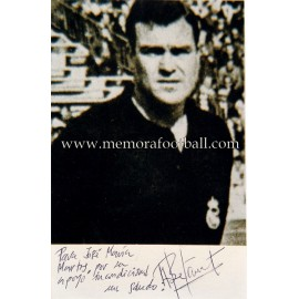 """BETANCORT"" Real Madrid signed and dedicated photo"