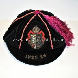 1925-26 King Williams College velvet cap