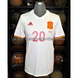 """CARVAJAL"" Spain vs France 28-03-2017 match worn shirt"