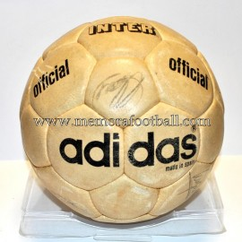 """ADIDAS INTER"" Ball. Signed FC Barcelona 1970s"