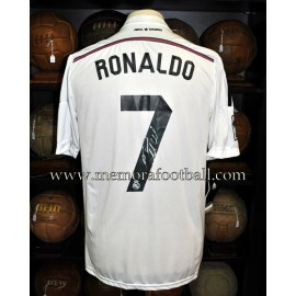 CRISTIANO RONALDO 2014-15 Camiseta oficial del Real Madrid firmada