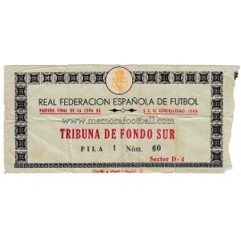 Spanish FA Cup 1966 Final ticket. Real Zaragoza vs Athletic Club