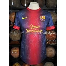 """JORDI ALBA"" FC Barcelona LFP 2012-2013 match worn shirt"