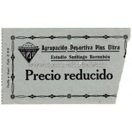Plus Ultra vs Extremadura 06-04-1958 ticket