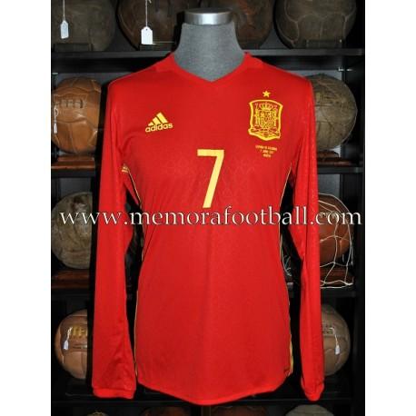 """MORATA"" Spain vs Colombia 07-06-2017 match worn shirt"