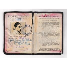Carnet de Socio del Real Valladolid Deportivo 1928