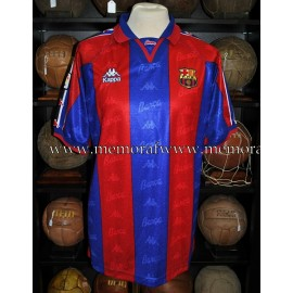 """AMOR"" FC Barcelona LFP 1996-97 match worn shirt"