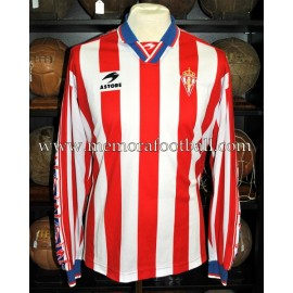 """ÓSCAR"" Sporting de Gijón LFP 1998-99 match worn shirt"