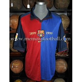 """ABELARDO"" FC Barcelona1998-1999 LFP Centenary match worn shirt"