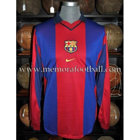 """IVÁN DE LA PEÑA"" FC Barcelona LFP 2000-2001 match worn shirt"