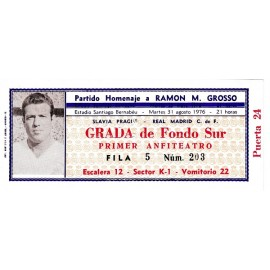 "Real Madrid CF vs Slavia Prague - 1976 ""Homenaje a Grosso"""