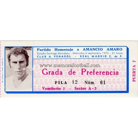 "Real Madrid v Peñarol 03-09-1975 ""Homenaje a Amancio"""