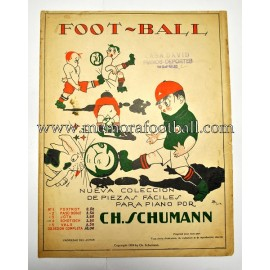 "Partitura para piano de ""FOOT-BALL"" 1923 CH. Schumann"