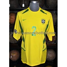 """BELLETTI"" Nº2 Brazil National team 2003 FIFA Confederations Cup match worn shirt"